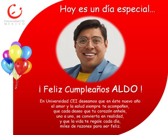 ¡Feliz Cumpleaños ALDO!