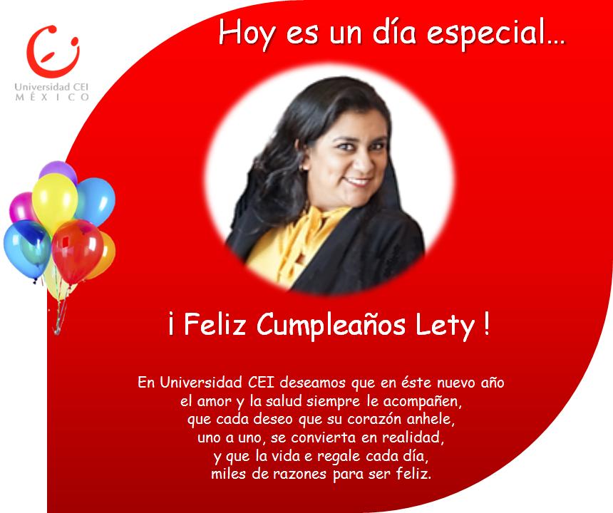 Cumpleaños Lety