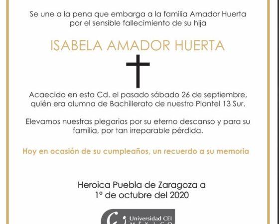 Isabela Amador Huerta. ( QEPD )