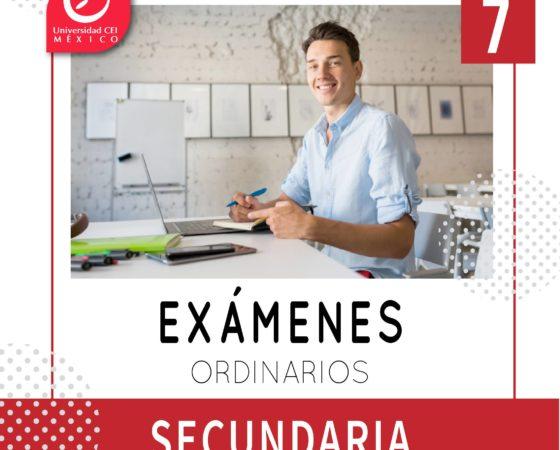Exámenes ordinarios Secundaria CEI