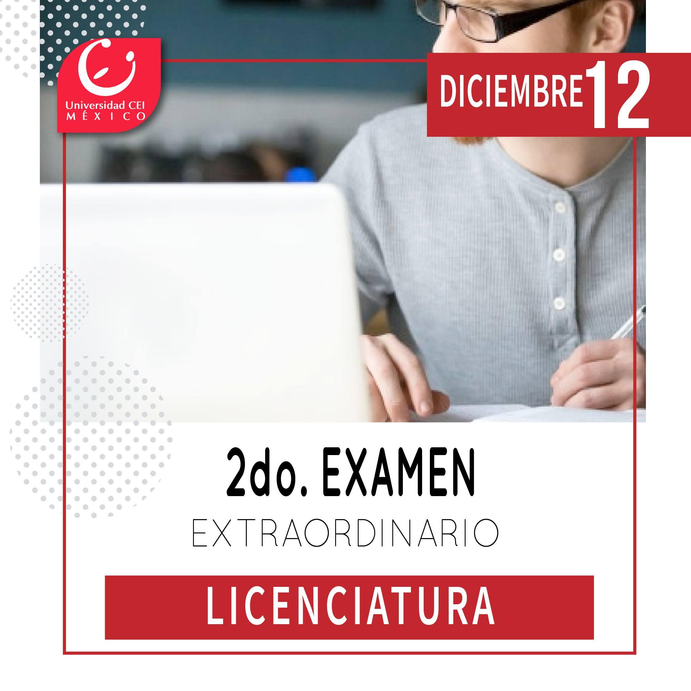 exámenes extraordinarios licenciaturas Cei