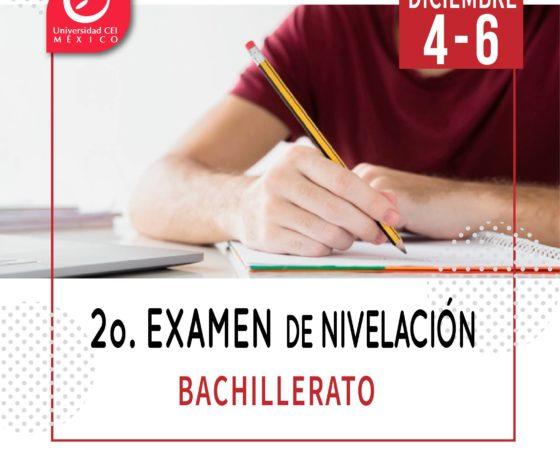 2° Examen Nivelación Bachillerato CEI