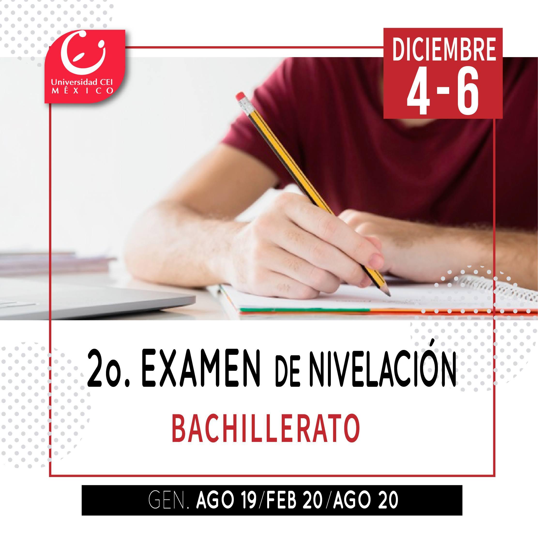 segundo examen de nivelación bachillerato cei (diciembre)